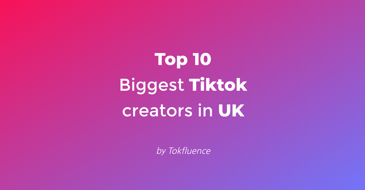 Top 10 Tiktok influencers in UK  (April 2020)